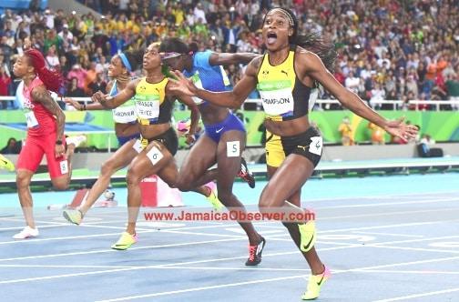 100m Olympic Race at Rio de Janiro