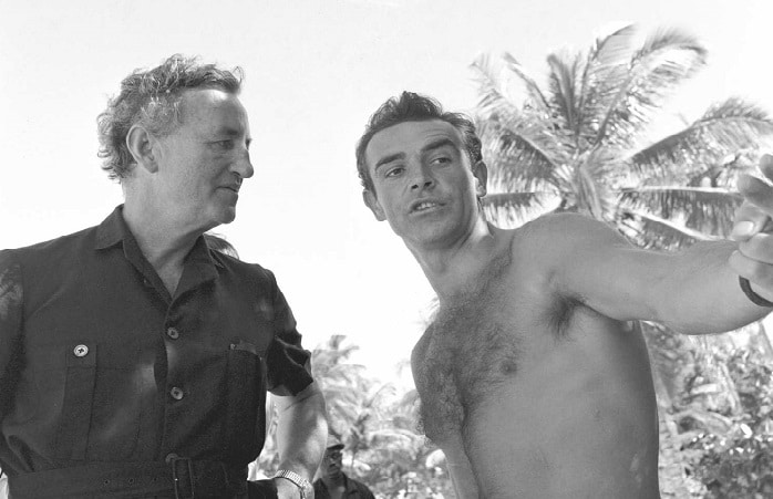ian fleming and young sean connery