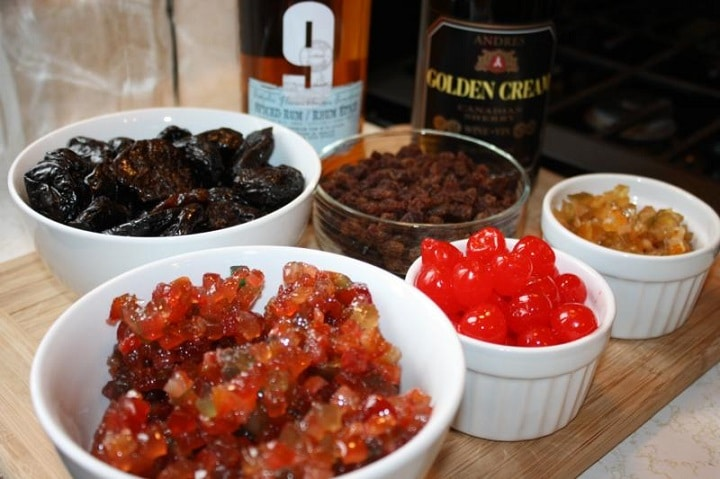 dry fruits soaken in alcohol
