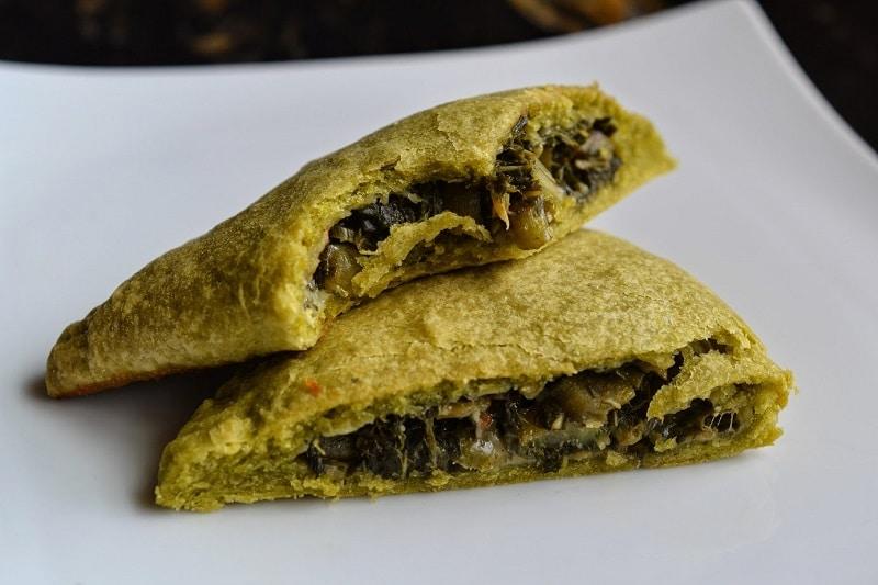 Vegetarian Jamaican Callaloo Patties