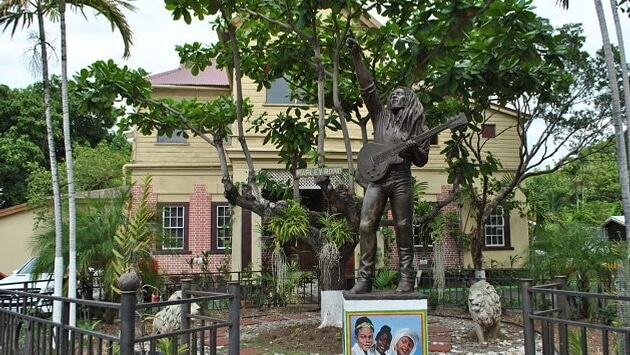 Outside of Bob Marley Museum