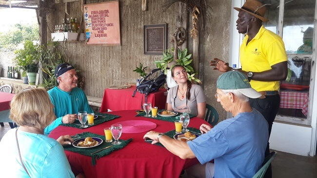 Tourists on a food tour in Jamaica