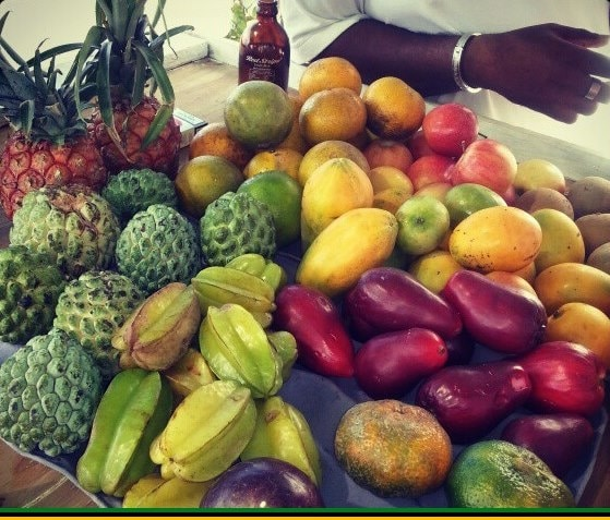 Jamaican fruits at the market