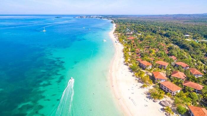 7 Mile Beach in Negril, Jamaica