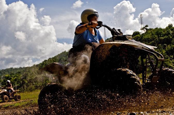 woman riding an ATV in Ocho Rios