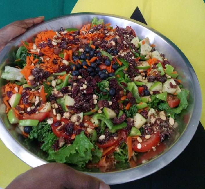 Jamaican salad at Tasty Island Jamaican Restaurant