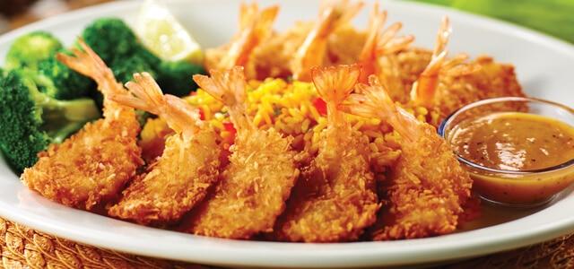 platter of fried coconut shrimp from Bahama Breeze