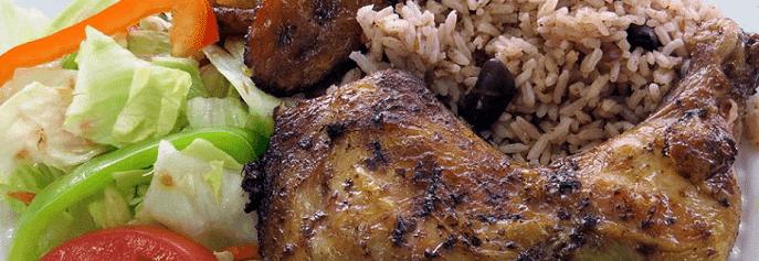 Negril Jamaican Restaurant lunch plate