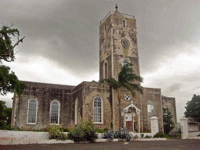 St. Peter's Anglican Church in Falmouth Historic Town