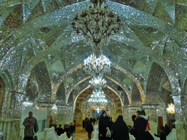Mirror-mosaic work in Shah-Abdol-Azim Shrine, Rey, Iran, 2012.
