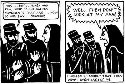An excerpt from the celebrated graphic novel memoir, Persepolis, by Marjane Satrapi