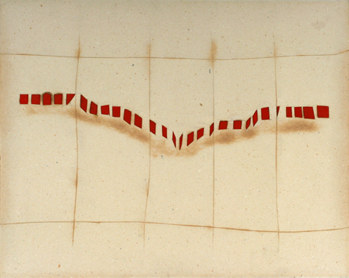 Mir-Hossein Mousavi (Khameneh), Musical Notations, 1967 gouache and mixed media on composition board 27 3/4 x 35 1/4 inches (70.5 x 89.5 cm) Grey Art Gallery, New York University Art Collection Gift of Abby Weed Grey, G1975.103