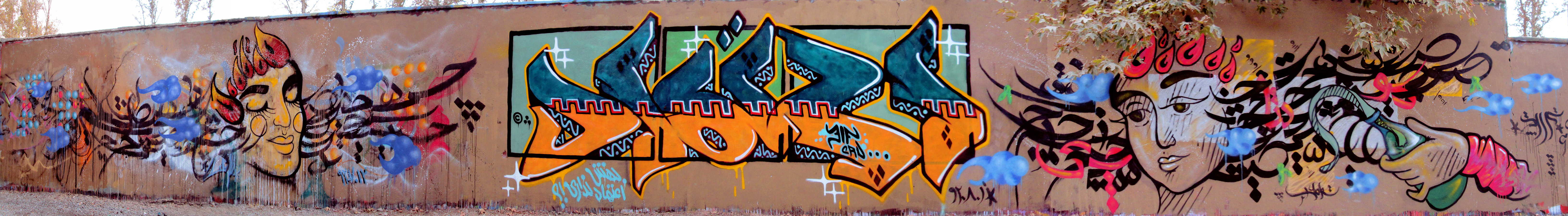 Making Graffiti An Iranian Art The Works Of Tehranbased Street - Amazing graffiti alters perspective space