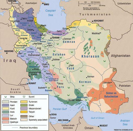 إيران لغات رئيسية