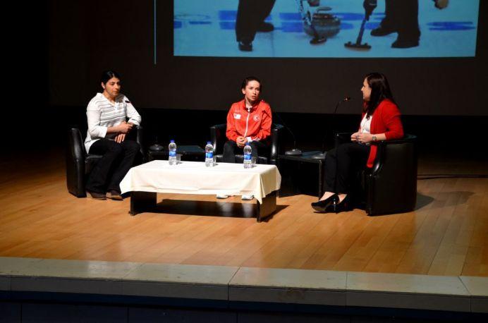 DSC 6924 - Olimpik Kadın Kayakçılar, AİBÜ'ye Konuk Oldu