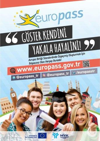 """gosterkendiniyakalahayalini - """"Europass Cv"""" Hakkında Bilgilendirme Duyurusu"""