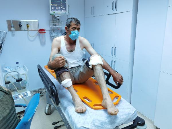 Tunceli'de ayı dehşeti! 'Ayağımı yakaladı ve pençe attı'