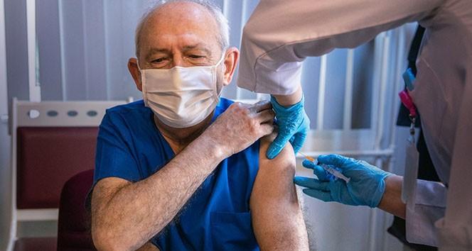 Kılıçdaroğlu Covid-19 aşısı oldu