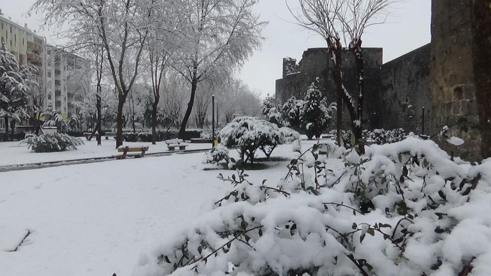 Diyarbakır'da yoğun kar yağışı