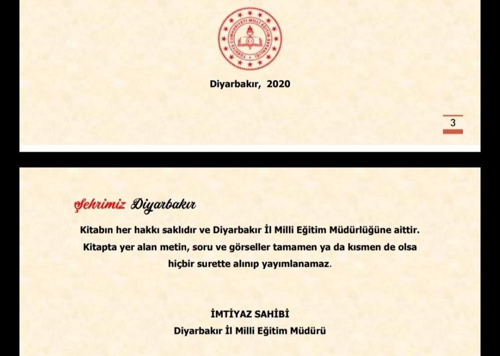 'Şehrimiz Diyarbakır' kitapçığına tepki