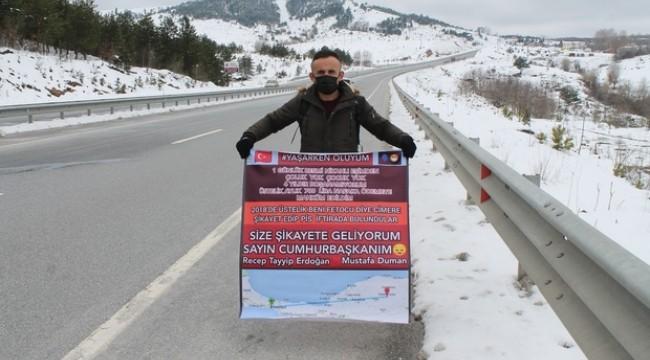 Nafaka protestosu: Kastamonu'dan İstanbul'a yürüyecek
