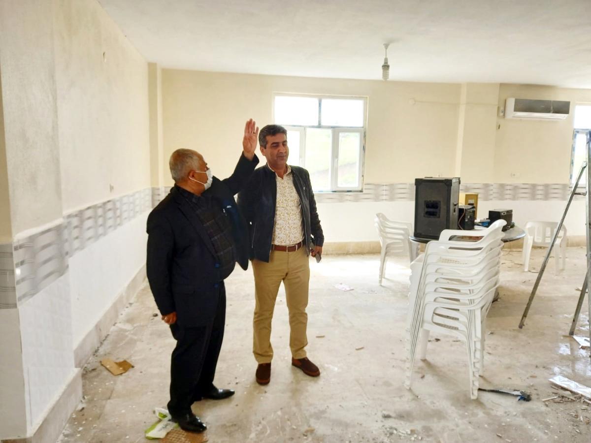 Silvan'da sosyal sorumluluk projesi kapsamında onarımlar