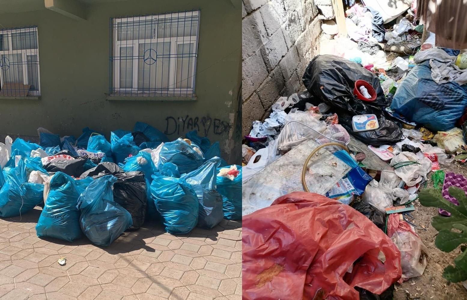 Bağlar Belediyesi çöp evi temizledi