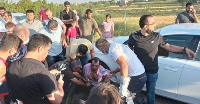 Kanala düşen oğlunu kurtarmak için suya atlayan baba boğuldu