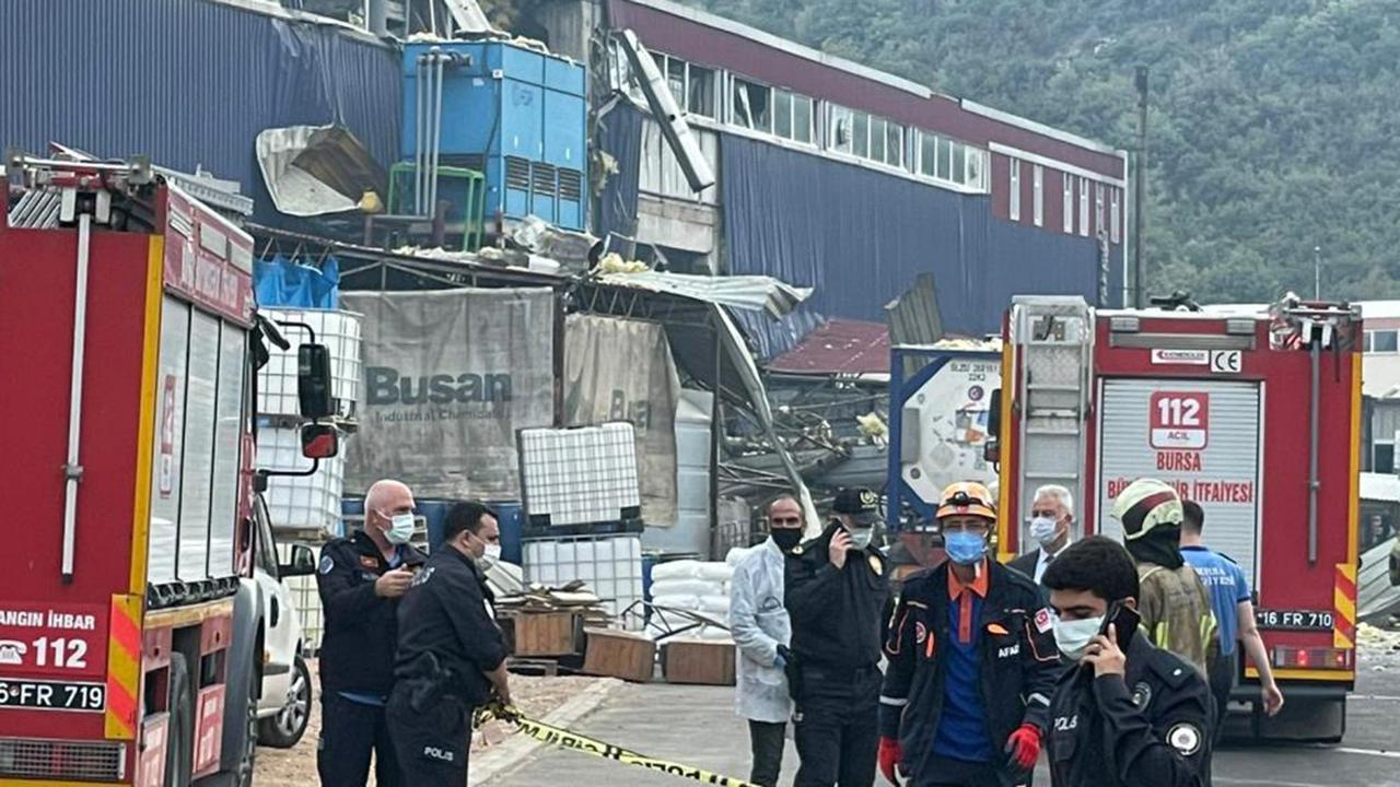Bursa'da kimya fabrikasında patlama: 1 ölü, 6 yaralı