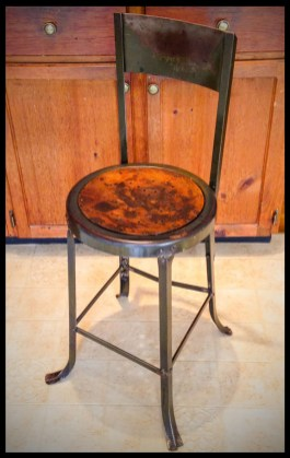 Vintage Industrial Letterpress Factory Stool