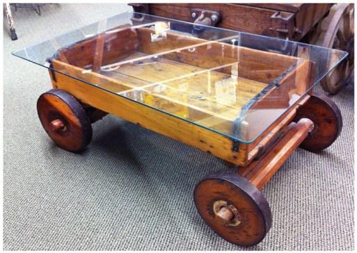 1800's Wagon Coffee Table