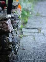 wet stone walls