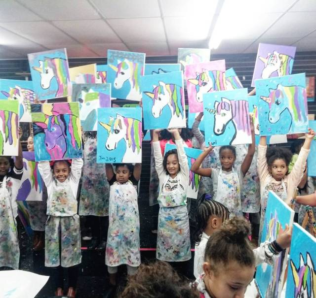 So many people to thank. Aja's 9th birthday party was a huge success. #happybirthday #9yearsold #BirthdayParty #paintparty