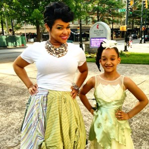 Aja and .elise22 on the set of her Superwoman music video