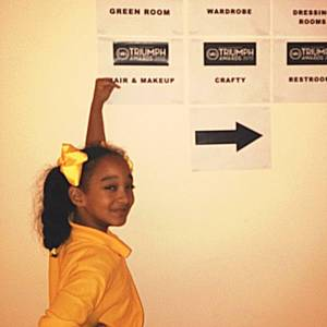 This happened today.. Cant wait to see it on tv .. #triumphawards #nantriumphawards #actress #childactress #actorslife