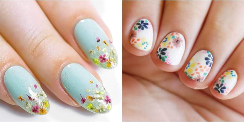 Easy Nail Art Base with Small Accents