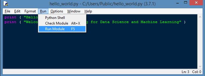 Run Python File
