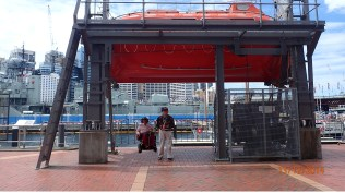 Under the life Boat darling harbour