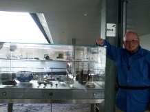 Myself near a display case there