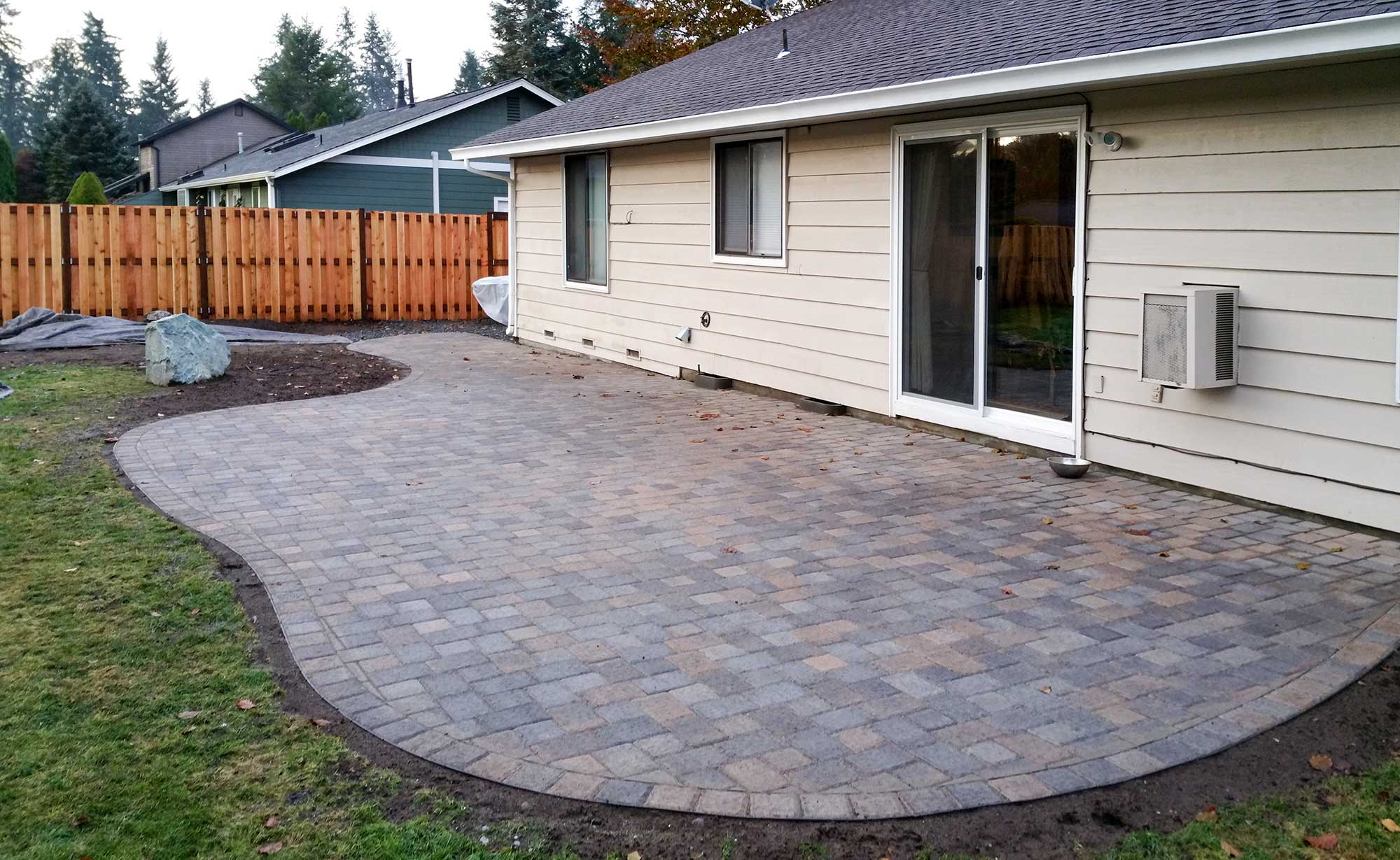 paver patio - AJB Landscaping & Fence on Yard Paver Ideas  id=22562