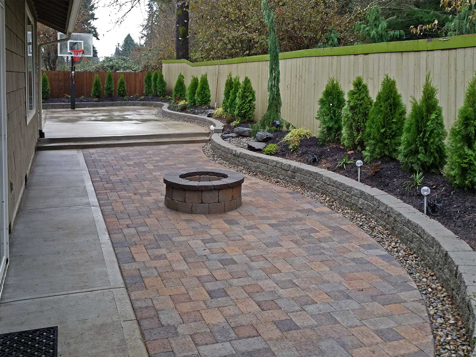 Southeast Olympia Backyard Entertainment Area & Kennel ... on Yard Paver Ideas  id=77018