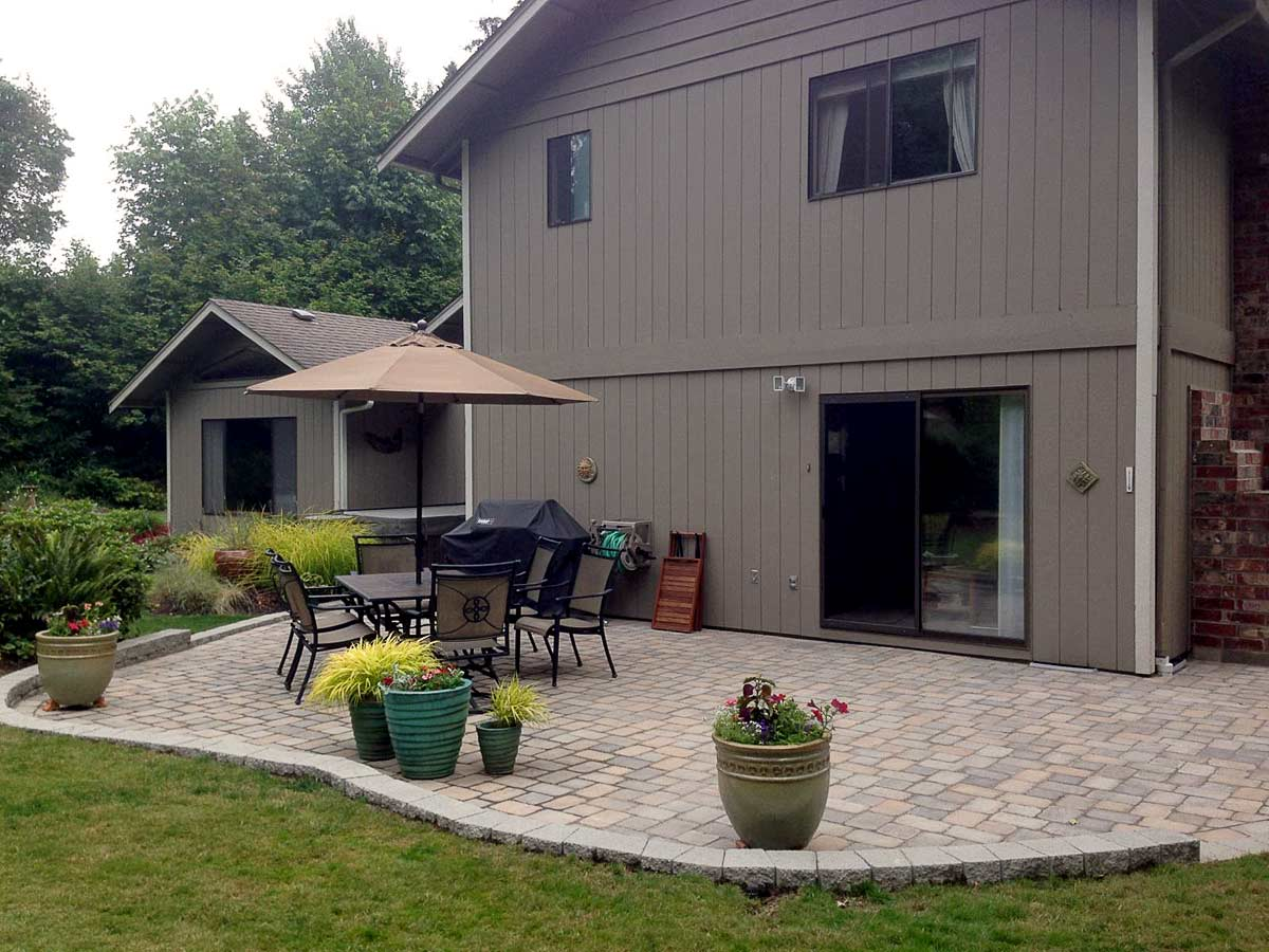 Lacey Exposed Aggregate Concrete Patio Extension - AJB ... on Backyard Patio Extension Ideas id=20885