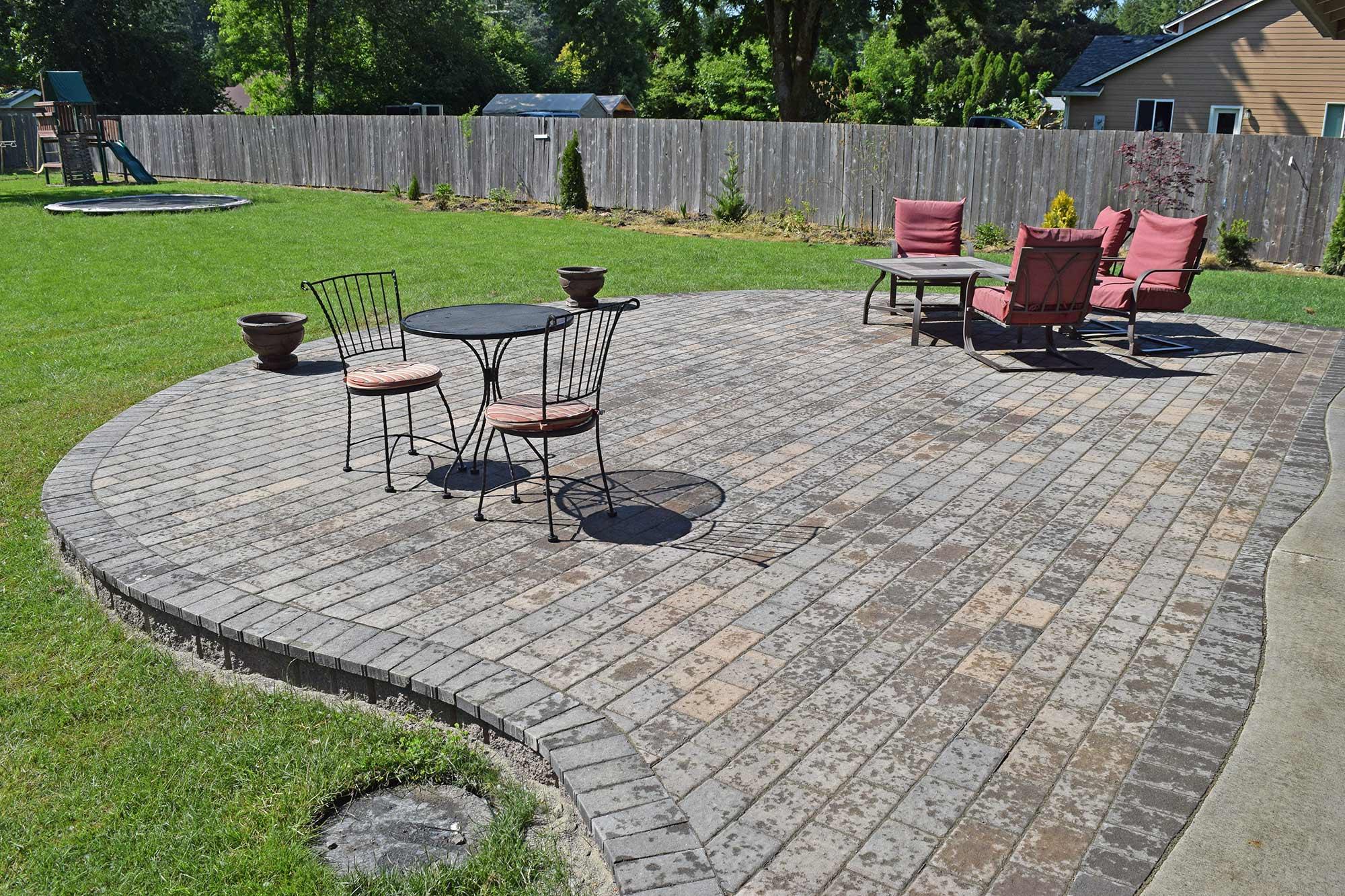 East Olympia Raised Patio - AJB Landscaping & Fence on Unlevel Backyard Ideas id=82554