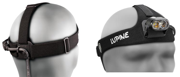 The Lupine Piko 4 light aalso ships with a head strap so that you can strap it to your head for rock climbing or running