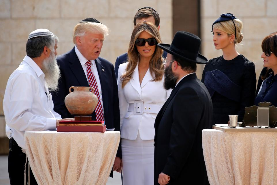 Ivanka and Melania Avoid Controversy by Praying at Womens's Side of the Western Wall.