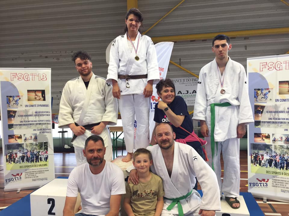 Podium championnat France Judo FSGT