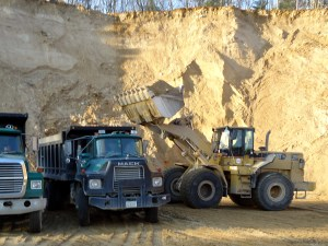 Working in the Conway Quarry