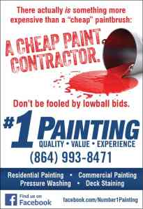 #1 Painting Money Pages print ad
