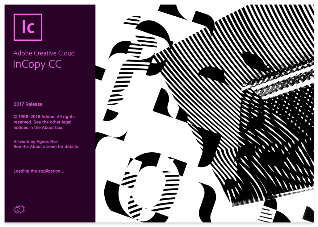 Adobe InCopy 2017 Splash Screen