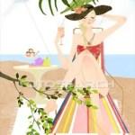 femme parasol
